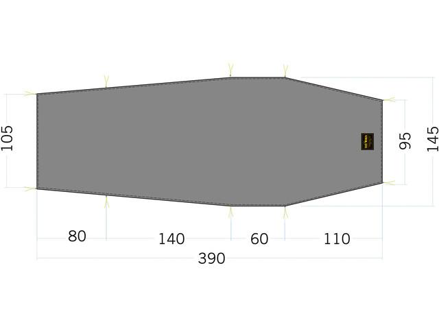 Tatonka LT Okisba Floor Sheet 390x95/145cm, stone grey olive